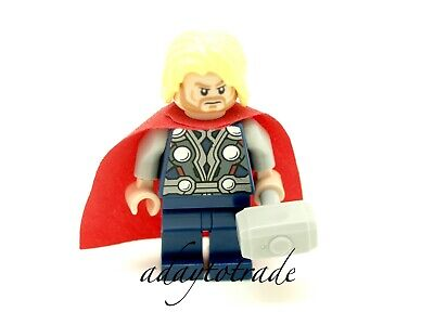 LEGO Marvel Super Heroes Mini Figure - Thor + Hammer 6868 6869 30163 SH018 R1118