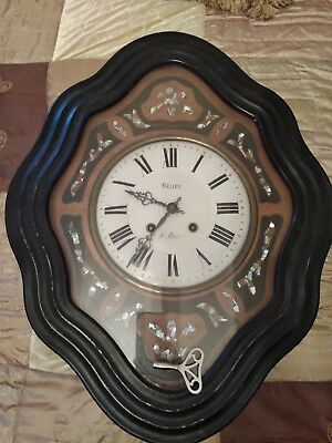Antique French Vineyard Clock. Running and keeping time