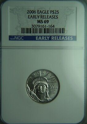 2006 Platinum American Eagle $25 1/4oz NGC MS69 Early Release