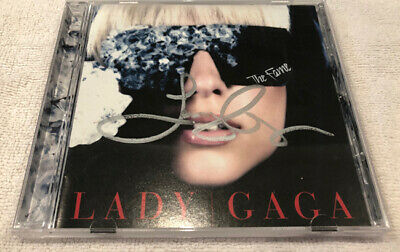 Lady Gaga The Fame Signed Poker Face CD Autographed