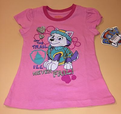 Paw Patrol Toddler Girl Pink Everest Shirt Top New 4T