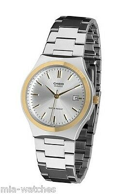 Casio Mens MTP1170G-7A Two-Tone Gold Stainless Steel Dress Watch Silver Dial