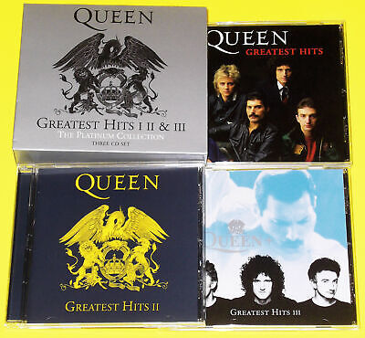 QUEEN - GREATEST HITS I II & III / 3 CD BOX SET PLATINIUM COLLECTION  comme neuf