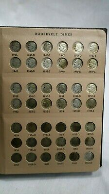 1946-2017 Roosevelt Dime Set! Dansco! Includes Silver Proofs, Proofs And Bu!