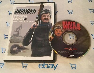 Death Wish 4: The Crackdown (DVD, 1987) Charles Bronson