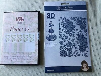 Tattered Lace  Princess Collection 3D Decoupage Dies and CD Rom