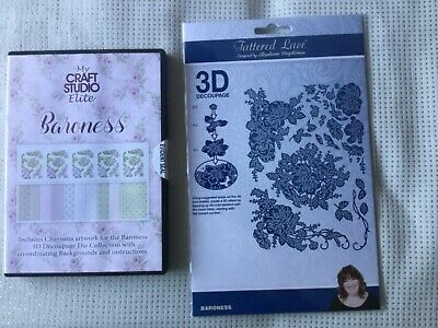 Tattered Lace Baroness Collection 3D Decoupage Dies AND CD Rom New