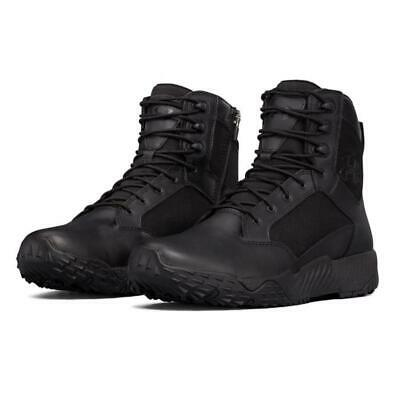 "Under Armour 1303129 Mens UA 8"" Stellar Side Zip Tactical Boot, Black"