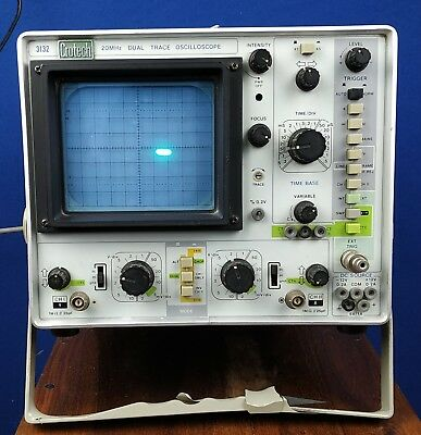Crotech Dual Trace 20 MHz Oscilloscope 3132 Testing Measurement Equipment& Probe