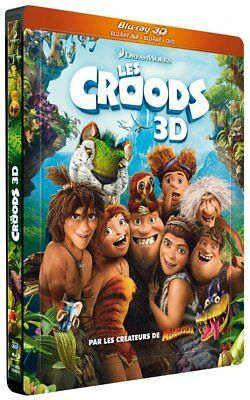 Les Croods Steelbook Blu Ray 3D + Dvd Neuf Sous Blister
