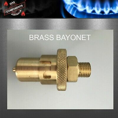 "CARAVAN BRASS GAS BAYONET MALE FITTING FOR FLOOR SOCKET 1/4""   LPG Jayco"