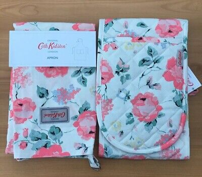 Cath Kidston Apron and Double Oven Glove Set - Regents Rose *BNWT*