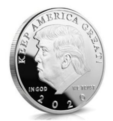 Donald Trump 2020 Keep America Great Commemorative Challenge Coin