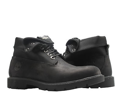 702ac7eaf5b TIMBERLAND BASIC ROLL-TOP Black Nubuck Men's Boots 6635A