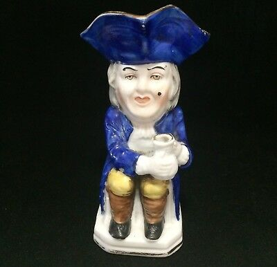Mid Century Hand Painted Toby Style Mug 18th Century Man with Mole 4.5in 119m