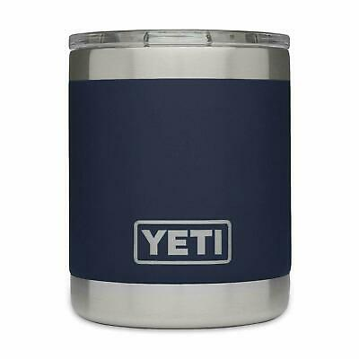 YETI Rambler 10oz Vacuum Insulated Stainless Steel Coffee Lowball Lid Navy