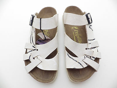 Birkenstock Papillio 35 Narrow PISA Ornament Shadow Cream Champagne colour