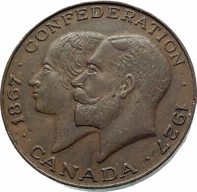 1927 CANADA under UK King EDWARD VII Genuine Antique Coronation Medal i76517