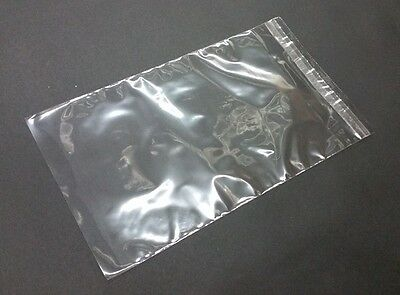 "100 Clear 1.6mil Self Adhesive Resealable Cello Plastic Bags 1.5"" Lip N Tape"