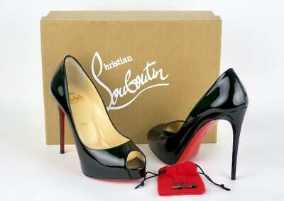 outlet store a20e3 611e8 CHRISTIAN LOUBOUTIN NEW Very Prive 120 Black Patent Pumps 36/6