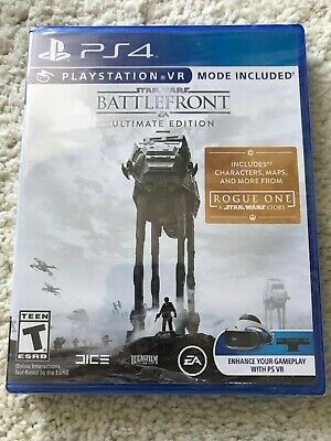 Star Wars Battlefront EA Ultimate Edition w/VR Mode PS4 2016 NEW FREE SHIPPING