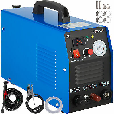 50A Inverter Non-Touch Pilot Arc Plasma Cutter, 110V & 230V Dual Voltage Digital