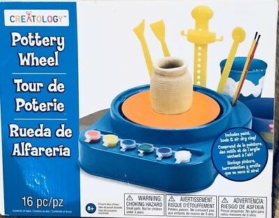 Creatology Pottery Wheel Kit Kids Learning Craft Making Creating Crafting Clay