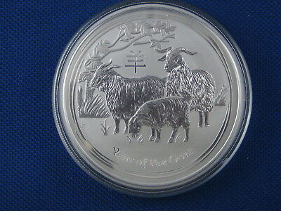 2014 Australia Year Of The Goat Reverse Proof 2 Oz .999 Silver Coin