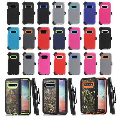 For Samsung Galaxy S10e Defender Case Rugged Cover Belt Clip fit Otterbox Series