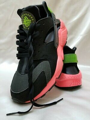 4aa725fe35df0 2014 Nike Air Huarache Hyperpunch size 9.5 Black Pink Green Anthracite EUC  FS