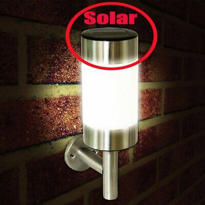 LED Solar Wall Mount Lights Night Sensor Outdoor Security Lamp For Garden Yard