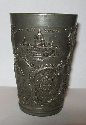SMALL ANTIQUE PEWTER CUP 'SOUVENIR OF ST PAUL' Minnesota USA 100+ years old
