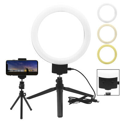"9"" LED Ring Light with Stand Lighting Kit Phone Light for Youtube Live Makeup UK"
