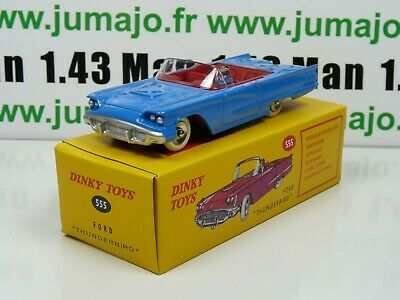 DT12 Voiture réédition DINKY TOYS atlas UK : 555 FORD THUNDERBIRD bleu UK