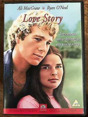 Ryan O'Neal Ali MacGraw LOVE STORY ~ 1970 Weepie Classic UK DVD