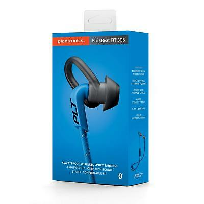 Plantronics Backbeat Fit 305 Helmet Choker Atria Intra Auricul Blue