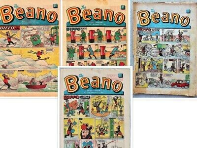 BEANO  # 1065,1067,1070,1072 1962/1963 4  issues Bundle the comic
