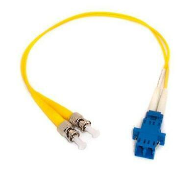 1ft Fiber Optic Adapter Cable LC (Female) to ST (Male) Singlemode 9/125 Duplex
