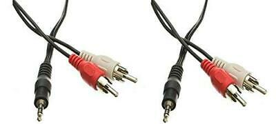 C&E 2 Pack 3.5mm Stereo Male to Dual RCA Male (Right and Left) RCA Audio Cable,