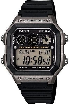 Casio AE1300WH-8AV,  Digital Men's Watch, 100M, Alarm, Referee Timer, Resin