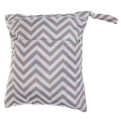 Large Cloth Mama Wet Bag for Nappies, Wipes, Cloth Sanitary Pads - Zig Zag *UK*