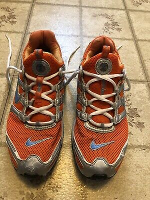 new styles beec9 0b1dc NIKE Shox Womens Running Shoes Size 7 Orange and Silver LOOK!