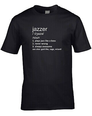 Jazzer Funny Definition Mens T-Shirt Gift Idea Music Player Jazz Band Orchestra