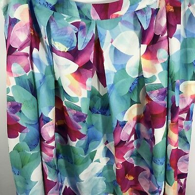 dd1d06a629 City Chic XXL 24W Plus Size 24 Floral Print Pleated Skirt Lined New NWT