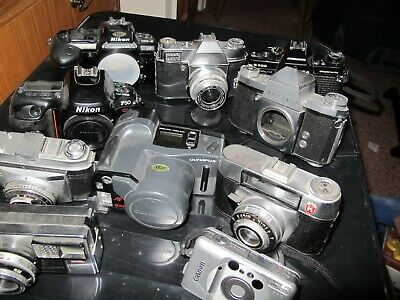 CAMERAS JOB LOT of old film cameras and one digital