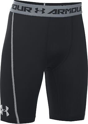 Under Armour Junior Boys Baselayer Shorts Black Sports Compression Short S L XL