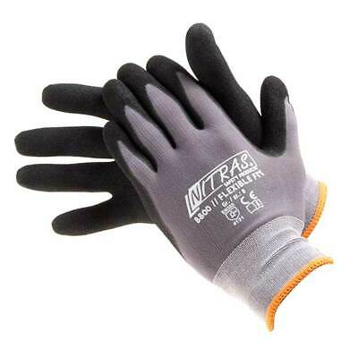 Normfest 77970178 Polyurethane Coated Work Gloves Pair Small Size 8 Elasticated