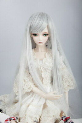 Silver Long Straight Wig Hair For 1/3 BJD SD LUTS Doll Dollfie