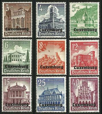 Germany Third Reich Luxembourg Occupation 1941 MNH/MH Winter Relief O/P