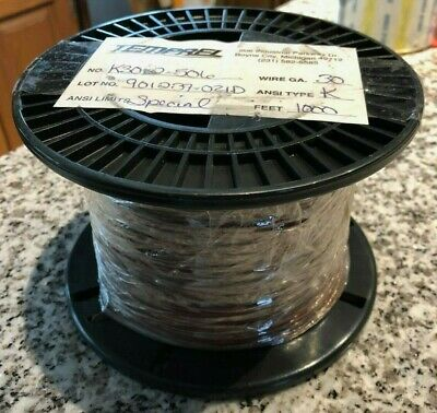 TEMPREL Thermocouple Wire Type K Teflon FEP 30GA Solid K30-2-506 1000 feet
